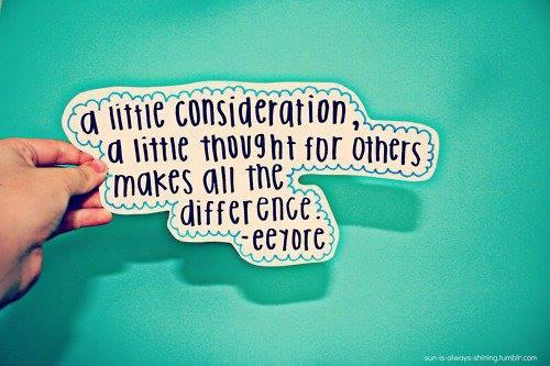 a little consideration eeyore
